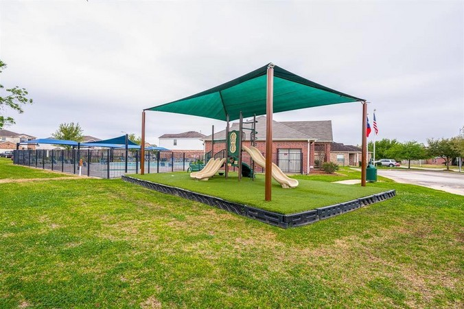 Neighborhood pool and park